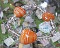 ハートのサードオニキスと水晶のブレスレット