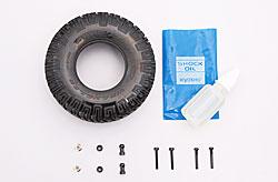 リア・オイルダンパーとタイヤを組み立てる!
