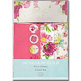 ピンクのお花のレターセット ~ デザイナーズギルド