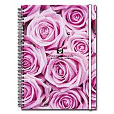 ピンクのバラのB5サイズダブルリングノート ~ エトランジェ・ディ・コスタリカ