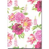 ピンクのバラのA5ノート ~ デザイナーズギルド